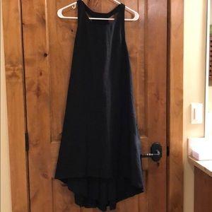 Banana Republic Linen Black Trapeze dress size 6